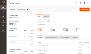 Magento 2 screenshot at Magento York